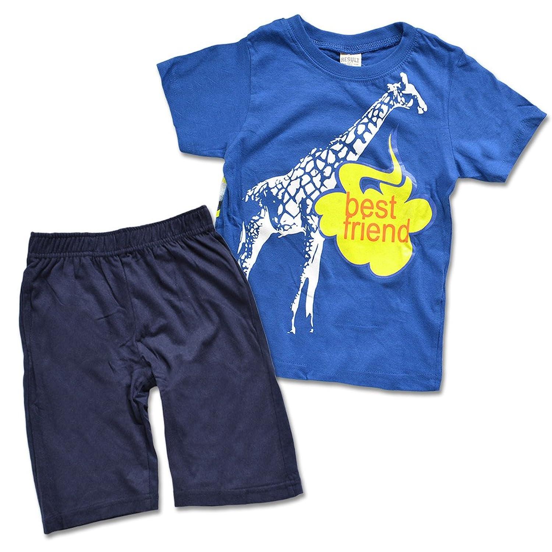 シメファブリック 男の子 上下セット セットアップ ハーフパンツ Tシャツ キッズ ルームウェア