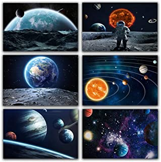 Galaxy Stars Astronaut Planet Hole Out Space Posters and Prins Universe Earth Meteorite Big Dreamer Canvas Painting Wall P...