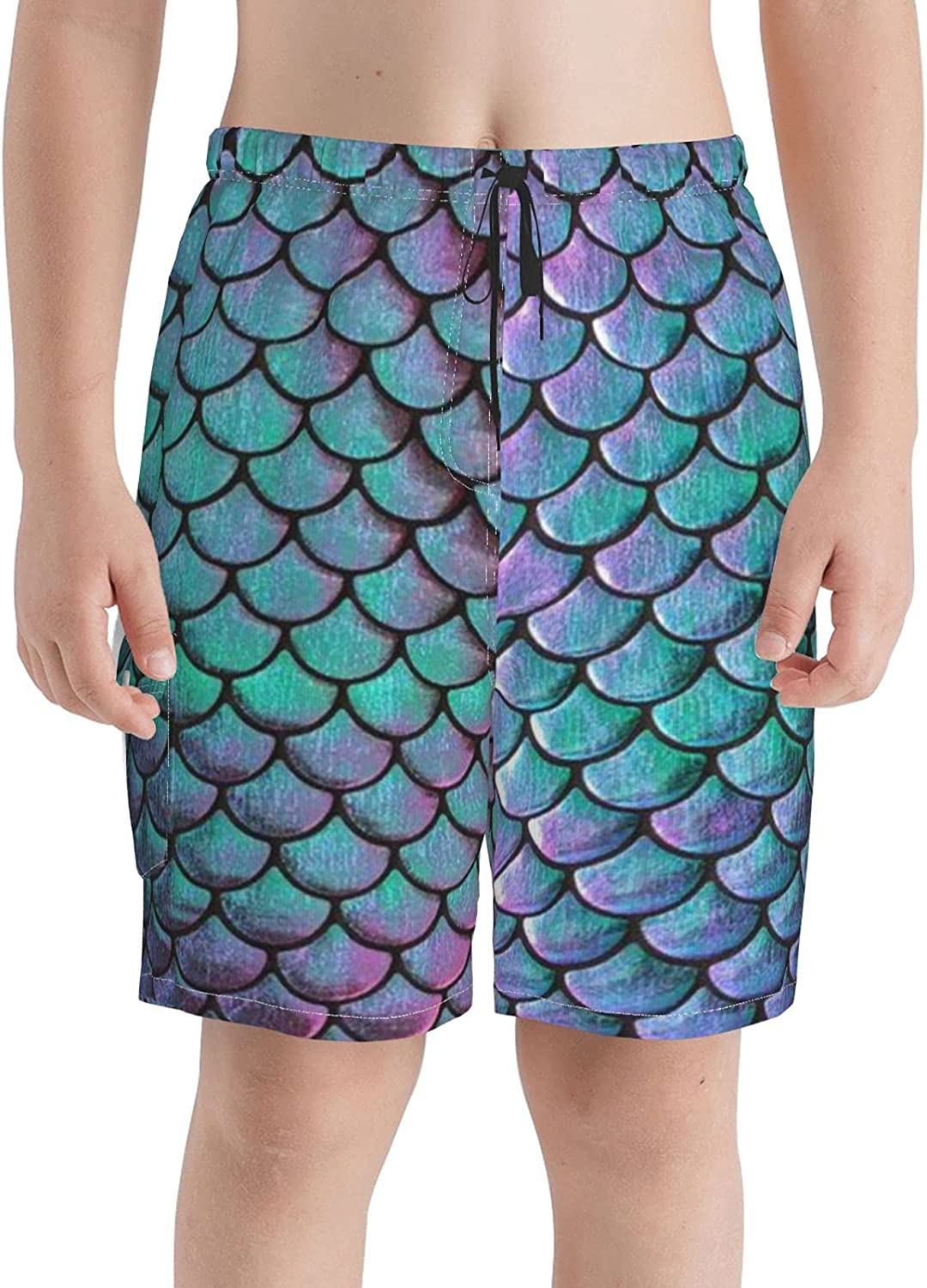 Mermaid Metallic Scales Max 59% OFF Turquoise and Swim Purple Boys Free Shipping New T Trunks