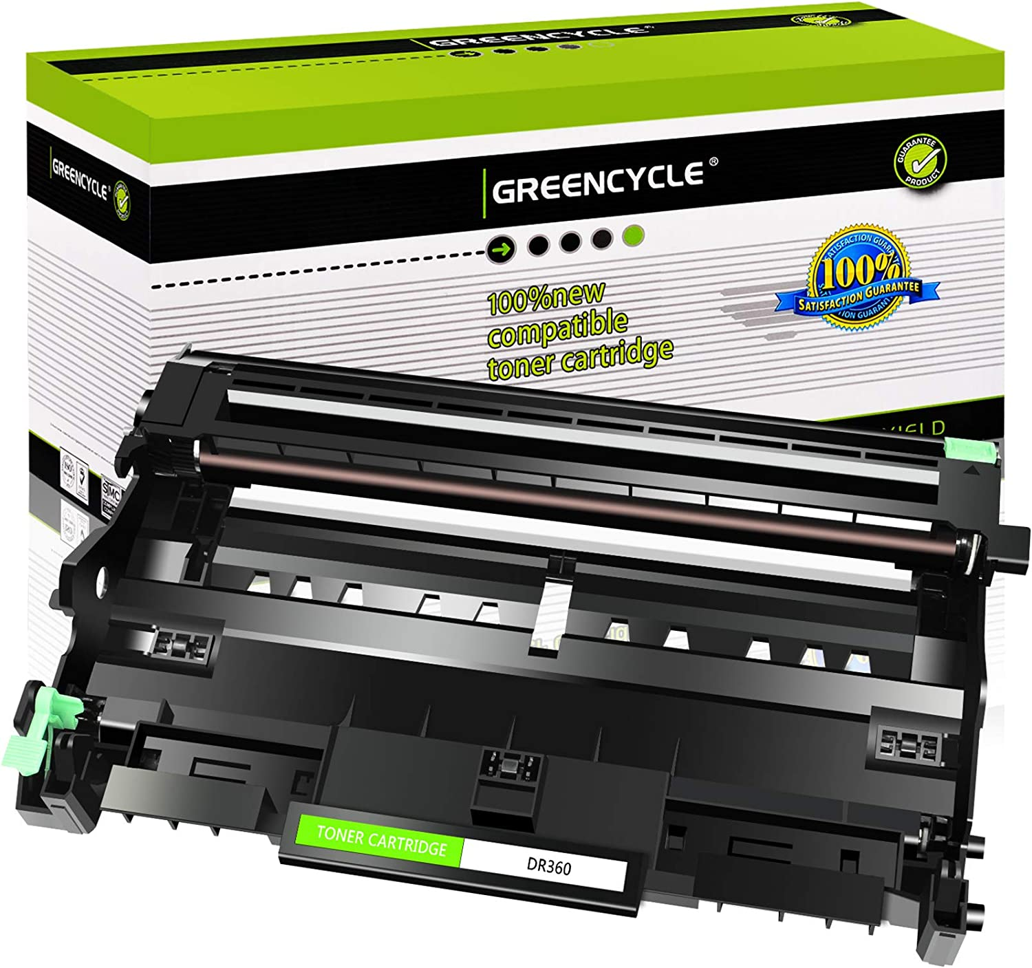 GREENCYCLE 1 Pack Compatible for Brother DR360 Drum Unit Replacement for DCP-7030 DCP-7040 HL-2140 HL-2150N MFC-7340 MFC-7345DN Printer
