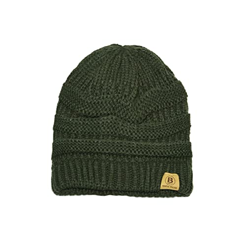4d9e6fce19e BASICO Unisex Adult Warm Chunky Soft Stretch Cable Knit Beanie Cap Hat (101 Army  Green