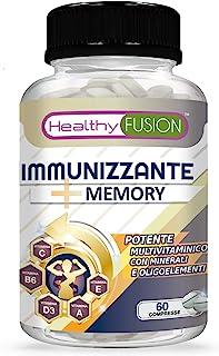 Multivitaminico potente e completo con vitamine C, E, B3, B5, A, B6, B2, B1, B9, B12, D3, zinco e ferro   Integratore Mult...