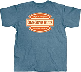 T Shirt for Men | Refuse to Grow Up | Heather Indigo