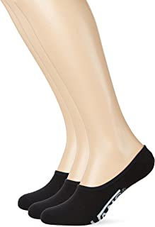 Classic No Show Socks 3 Pair Pack (6.5-9, Black/White)