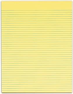 TOPS The Legal Pad Legal Pad, 8-1/2 x 11 Inches, Gum-Top, Canary, Narrow Rule, No Margins, 50 Sheets per Pad, 12 Pads per Pack (7528)