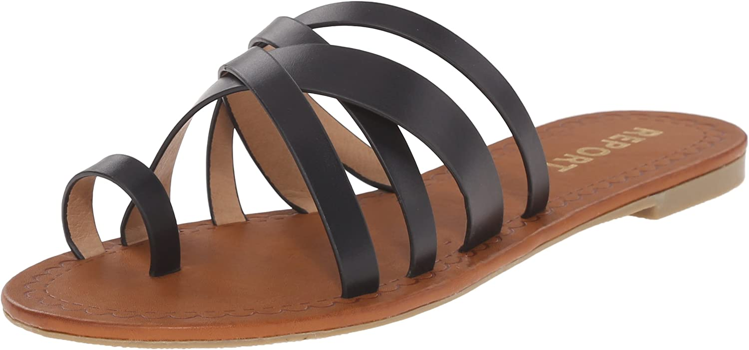 Report Women's Gyselle Flat Sandal Black