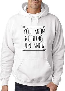 176 - Adult Hoodie You Know Nothing Jon Snow Unisex Pullover Sweatshirt
