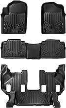 MAXLINER Floor Mats 3 Row Liner Set Black for 2017-2018 Armada / 2011-2013 Infiniti QX56 / 2014-2018 QX80