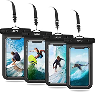 JOTO Universal Waterproof Pouch Phone Dry Bag Underwater Case for iPhone 11 Pro Max XS Max XR X 8 7 6S Plus Galaxy Pixel up to 6.8 inch -4 Pack, Black