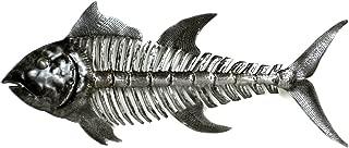 Global Crafts Recylced Handmade Haitian Metal Wall Art: Fish Bones, 24