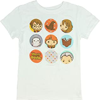 Harry Potter Fantasy Glittery Character Icons Girls T-Shirt