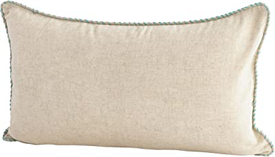 Amazon.com: PILLOW DÉCOR Tuscany Linen White 12x19 Throw ...