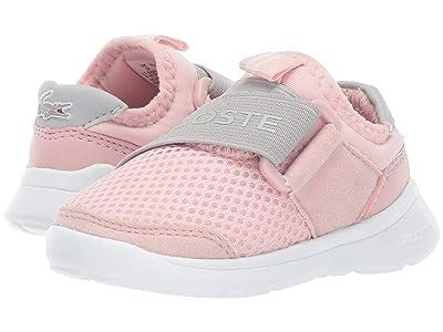 Lacoste Kids Lt Dash Slip 119 1 SUI (Toddler/Little Kid) (Light Pink/Grey) Girl