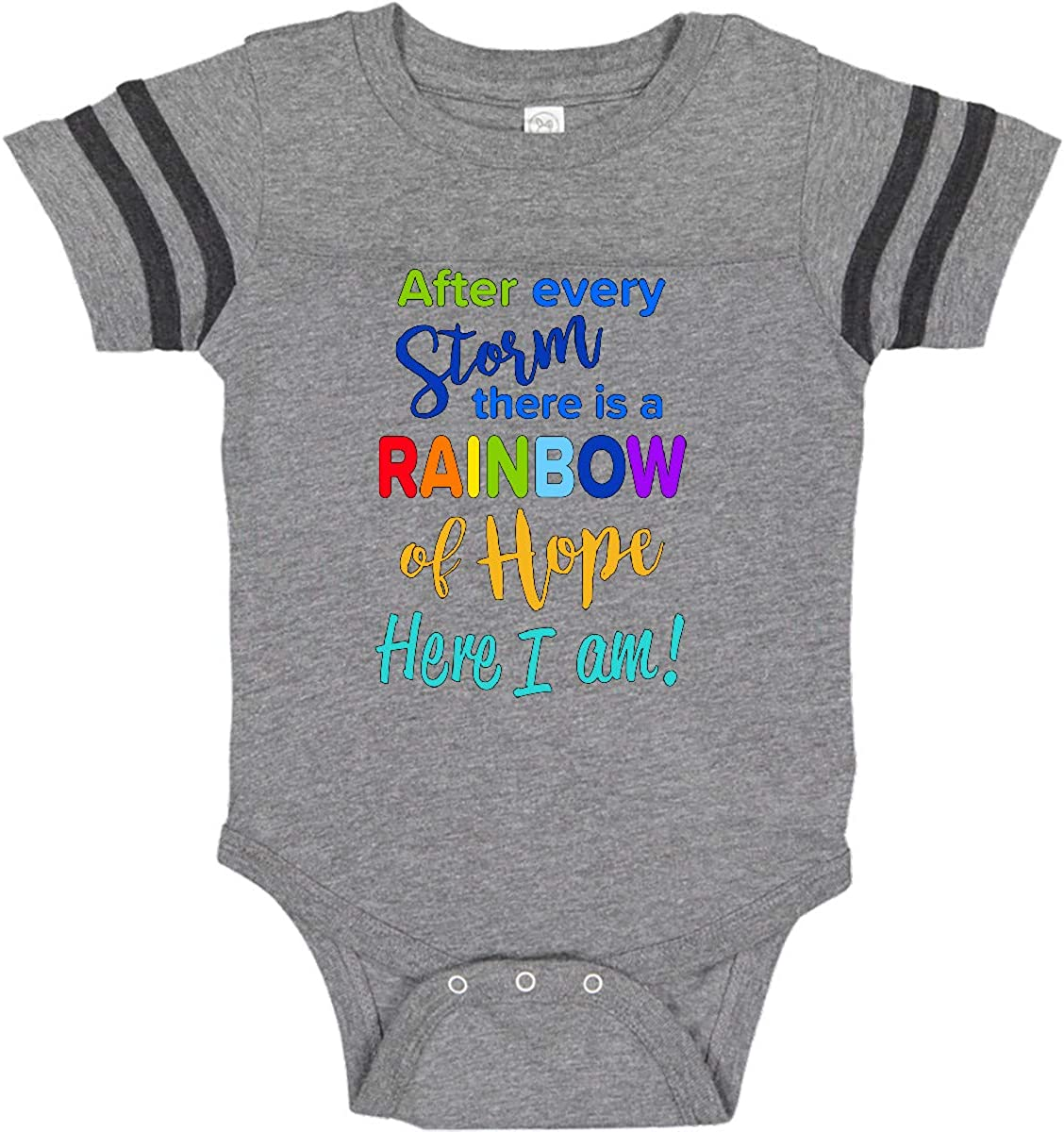 Baby Girls Boys Funny Short Sleeve Infant Baby Onesies Im The Rainbow After The Storm
