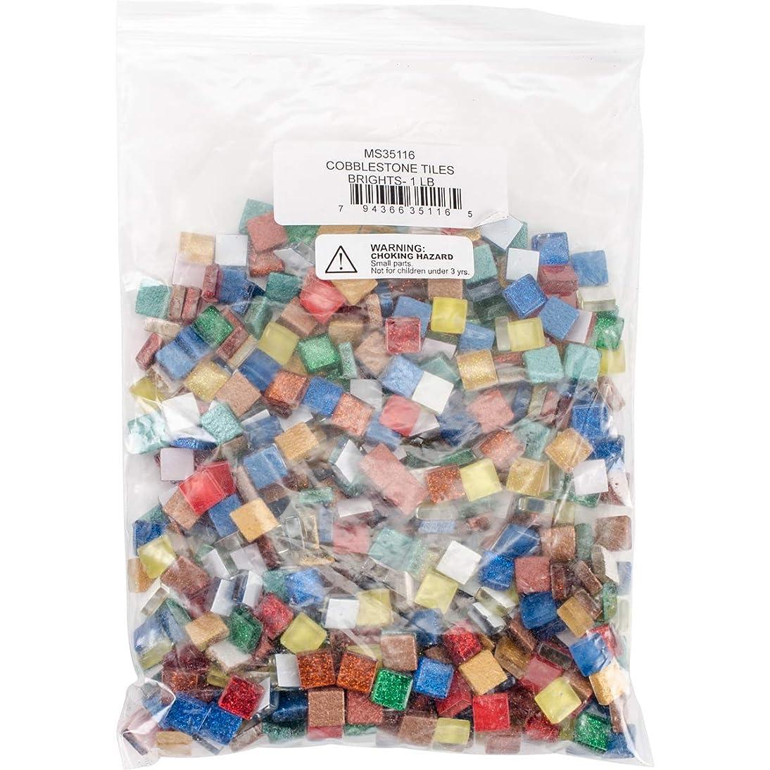 Diamond Tech Crafts MS35116 Cobblestone Tiles 1lb-Brights