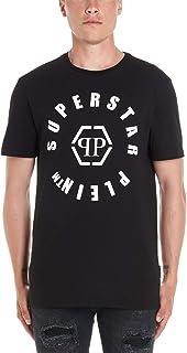 PHILIPP PLEIN Men's F19CMTK3581PJY002N02 Black Cotton T-Shirt