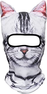 WTACTFUL 3D Stand Ears Animal Balaclava Face Mask for...