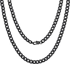 ChainsPro Mens NK 1:1 Curb Chain Necklace, 5/9/12/15 MM Width, 18