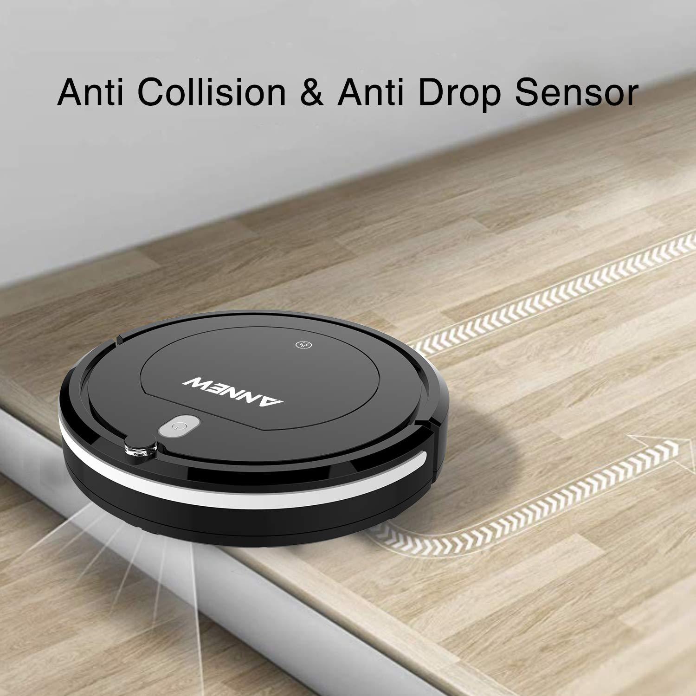 ANNEW Robot Aspirador con Control Remoto 3 Modos de Limpieza Anti ...