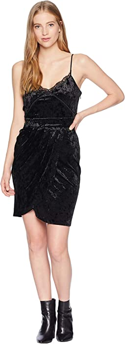 Track Crushed Velour Cami Tulip Dress