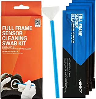 UES VSGO Camera Sensor Cleaning Swab Type 3 (VSGO DDR23) for Full-Frame Camera Sensor (CCD/CMOS): Package of 10 X 24mm Cleaning Swabs
