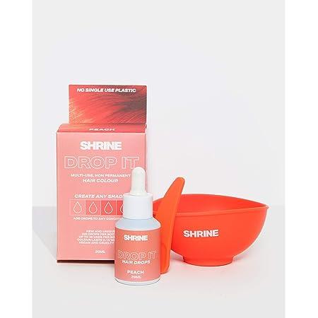 SHRINE Drop It Gotas Tinte Capilar Semipermanente, Melocotón 20 ml