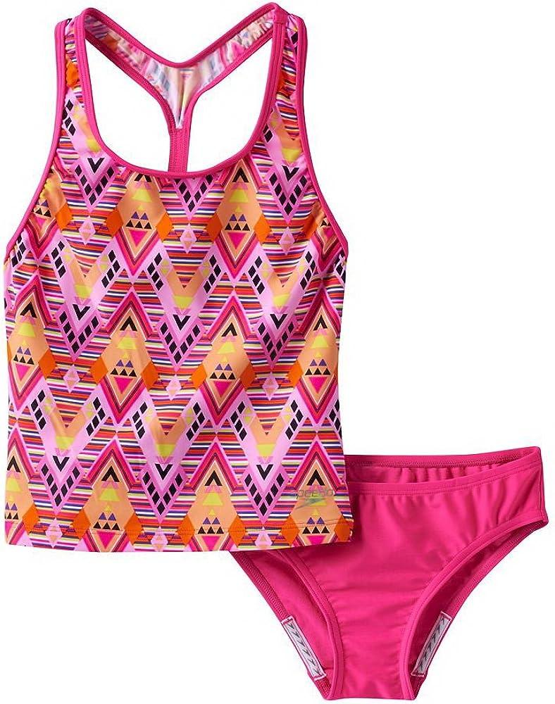 Speedo girls San Antonio Mall youth DIAMOND Kansas City Mall GEO Two TANK Piece Swimsuit