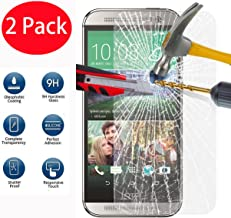 2 Pack - HTC One M8/M8s Tempered Glass Crystal Clear LCD Screen Protector Guard & Polishing Cloth