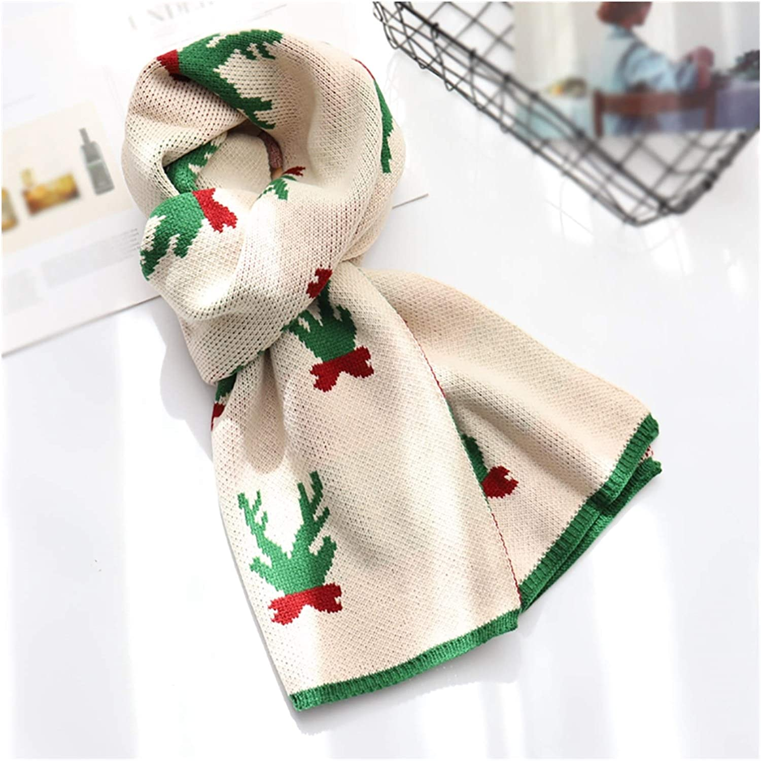 Max 52% OFF Winter Charlotte Mall Knit Scarf Women Men Scarve Christmas Warm Reindeer