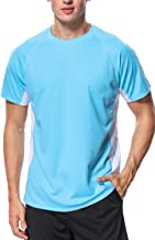 V FOR CITY Mens Swim Shirt Quick-Dry Water Shirts Sun Protection Swimming Tee Rash Guard