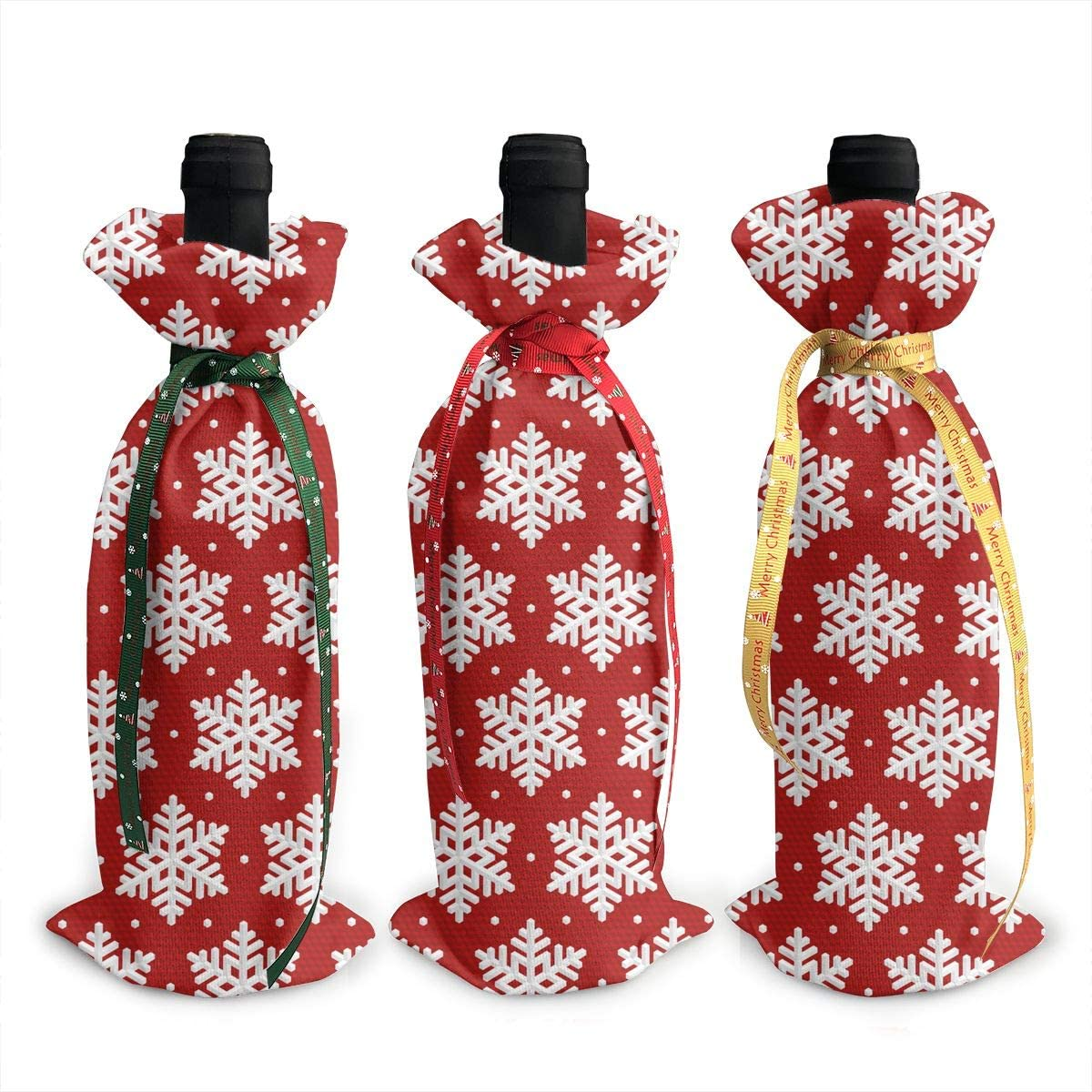 Red Three favorite Dimensional Christmas Xmas Snowflake3Pcs Special price for a limited time