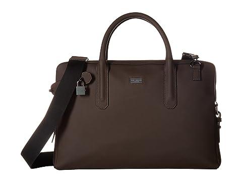 cuero Baker marrón bolsa Ozboz de de documentos Ted de goma qOTYxnwqd