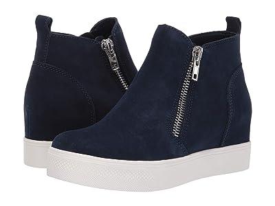 Steve Madden Wedgie Sneaker (Navy Suede) Women