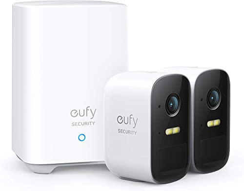eufy Security, eufyCam 2C 2-Cam Kit, Wireless Home Security System with 180-Day Battery Life, HomeKit Compatibility, ...
