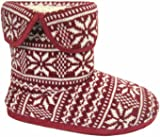 Footwear Studio Coolers Mens Knitted Fairisle Slipper Boots