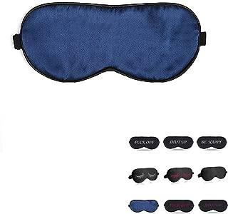 perfect trade Natural Silk Sleep mask & Blindfold,Eye mask for Sleeping,Blue Sleep mask,100% Silk Sleep Mask for A Full Night's Sleep,Eye mask for Women (Navy Blue)