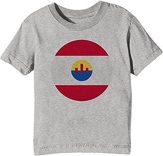 7a751755534d Francese Polinesia Nazionale Bandiera Bambini Unisex Ragazzi Ragazze  T-Shirt Maglietta Grigio Maniche Corte Tutti