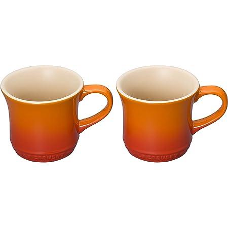 ル・クルーゼ(Le Creuset) マグカップ マグ(SS) 250 ml オレンジ 耐熱 耐冷 電子レンジ オーブン 対応 2個 入り 【日本正規販売品】