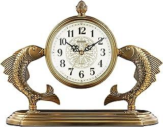 Table Top Clock المنزلية الرجعية المعدنية منضدية على مدار الساعة تعمل بالبطارية الصامت الجدول على مدار الساعة العربية الأر...