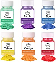 Wtrcsv Colored Mica Powder for Soap Making(Total 120g/4.2oz) Bath Bomb Dye Coloring Powdered Pigments Set for Makeup, Bath Bomb, Epoxy Resin(6 Colors)
