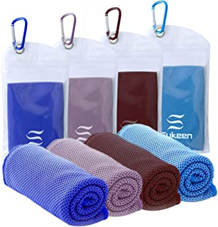"""Sukeen Cooling Towel Instant Evaporative Cooling,Snap Cooling Towel for Sports,Yoga,Golf,Gym,Neck,Workout and More(40""""x 12"""")"""