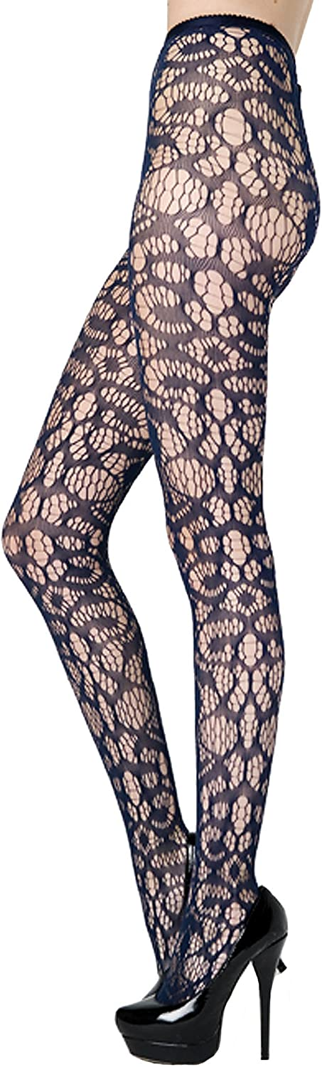 Stella Elyse Abstract Crescent Shapes Fishnet Pantyhose