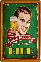 Rupert Gibsona German Text Echte Männer Trinken Beer Real Men Drinking Beer Art Decor Tin Sign Home House Coffee Beer Drink Bar 12 x 16 Inch