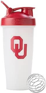 BlenderBottle Collegiate Classic 28-Ounce Shaker Bottle, Oklahoma University Sooners - White/Red