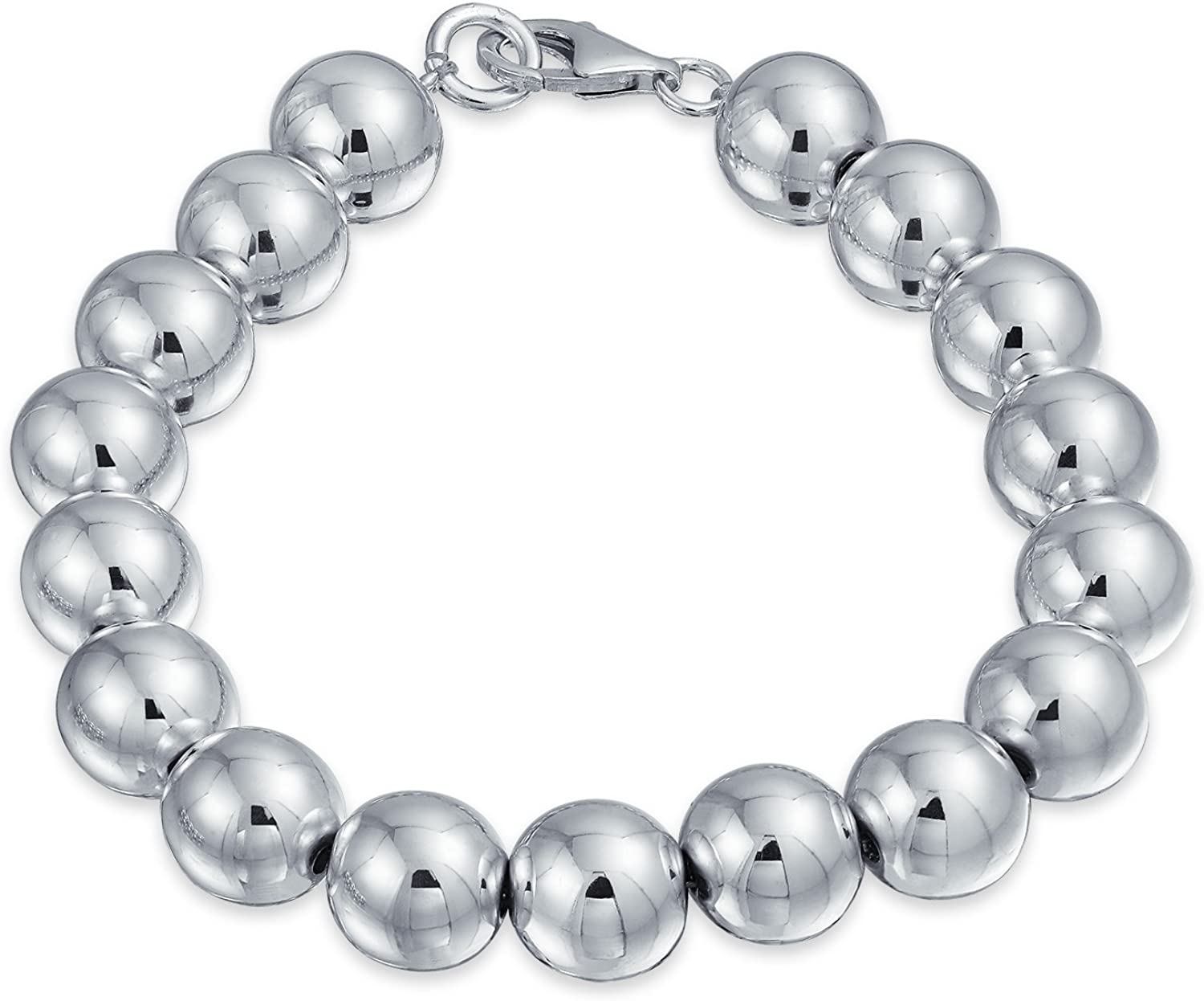Simple Plain Hand Strung Directly managed store Polish 1 year warranty Round Bead Silver Sterling 925