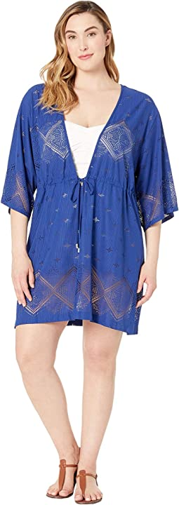 Plus Size Santorini Tile Tunic Cover-Up