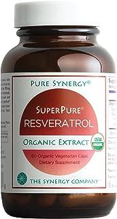 Pure Synergy USDA Organic SuperPure Resveratrol (60 Capsules) w/Trans Resveratrol for Healthy Aging
