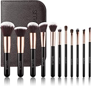 SIXPLUS 11Pcs Royal Golden Makeup Brushes Professional Makeup Brush Set with Bag