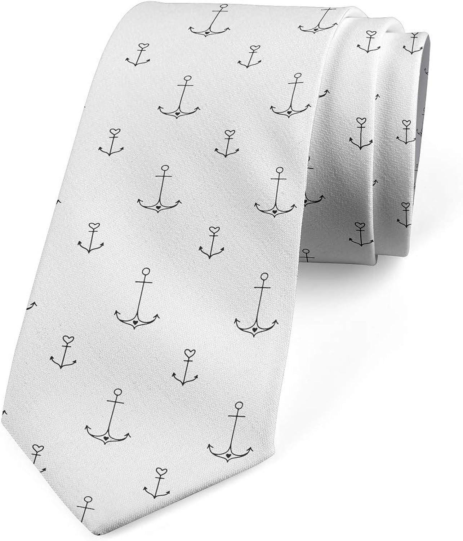 Ambesonne Necktie, Retro Tattoo Art, 3.7