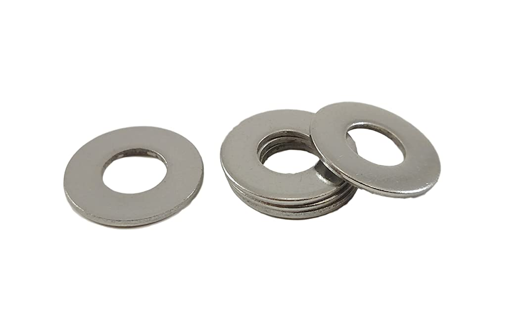 Stainless Flat Washers 5/16 Inch, 304 Stainless Steel, 50 pieces (5/16 Flatwashers)
